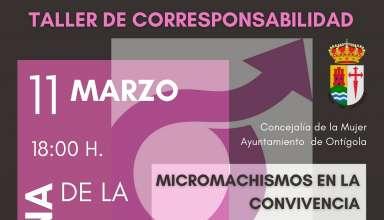 Taller de Corresponsabilidad para la Semana de la Mujer. Jueves 11 de marzo a las 18:00 h