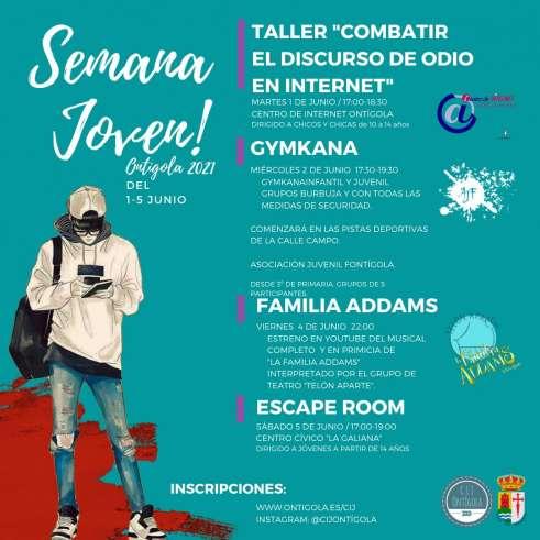 """Semana Joven 2021. Taller """"Combatir el discurso de odio en Internet"""", Gymkana, """"La familia Addms, Escape Room"""