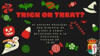 Cartel Cuentacuentos Halloween. Viernes 29 de octubre a las 18:30